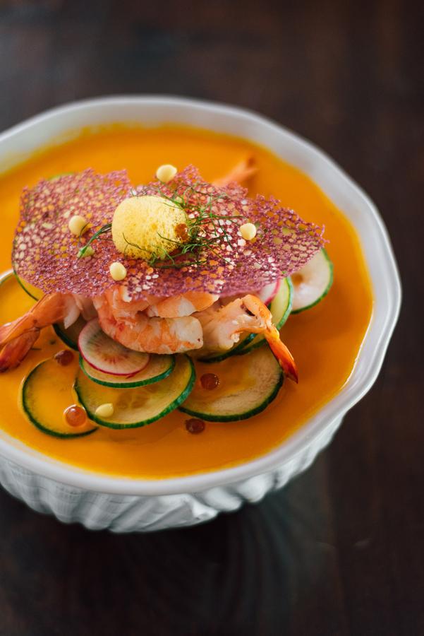 Gazpacho con camarón